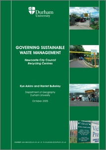 Sustainable Waste Management Project Newcastle City Council