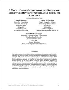 literature review model