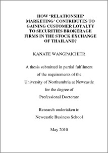 Customer loyalty thesis pdf