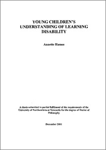Phd thesis in learning disabilities