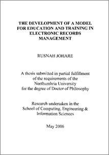 thesis report on training and development