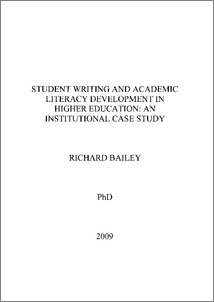 Phd research thesis in education