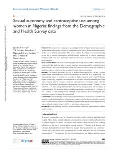 What Is Sexual Autonomy