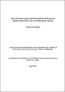 Roper Logan Tierney Model Activities Of Daily Living