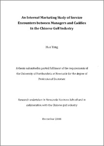 Phd thesis in services marketing