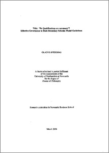 The Form of the PhD Dissertation - Harvard University