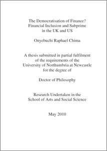 Thesis of phd in finance