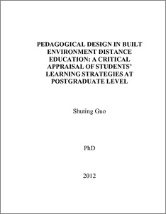 Pedagogical design in built environment distance education: a